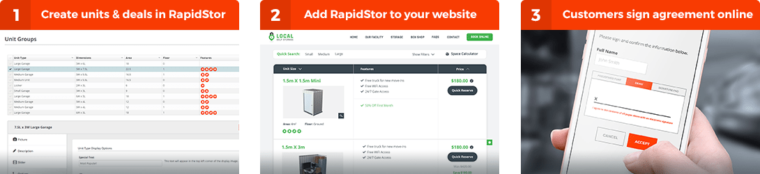 RapidStor | Online Move Ins for Self Storage Facilities