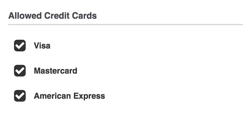 RapidStor Payment Options