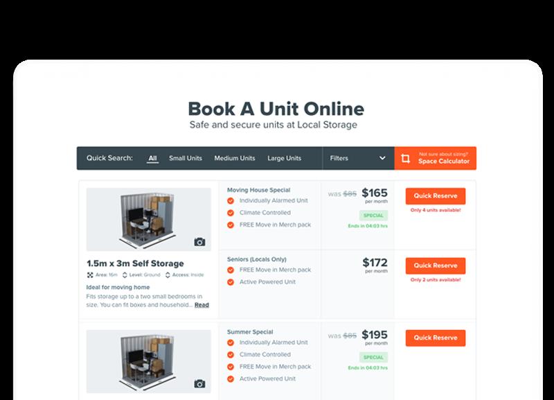 Book a unit